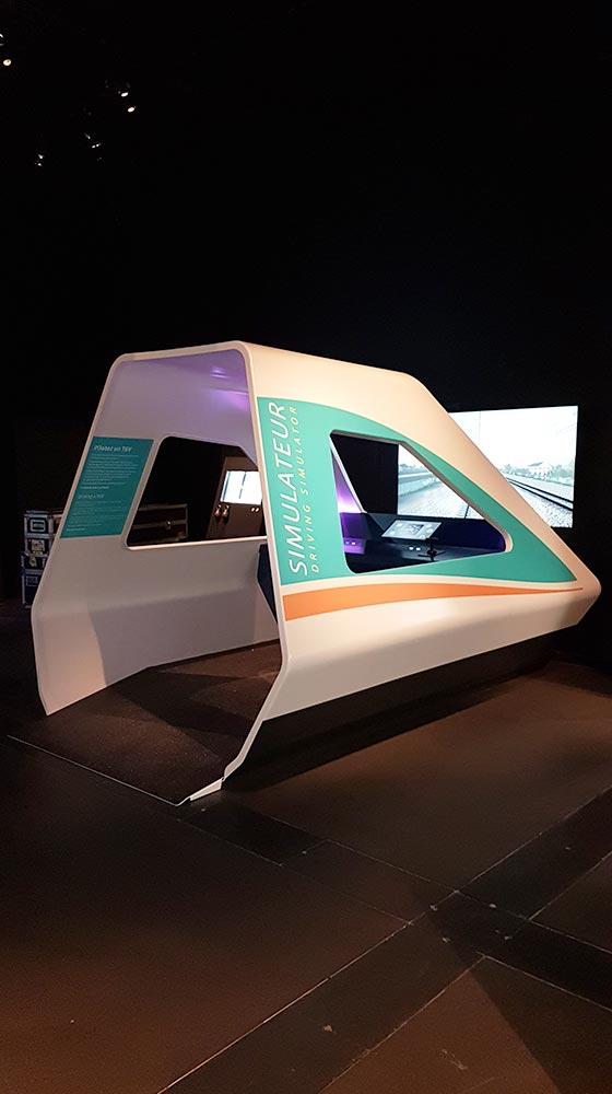 Exposition à Rennes - Cabine train simulateur