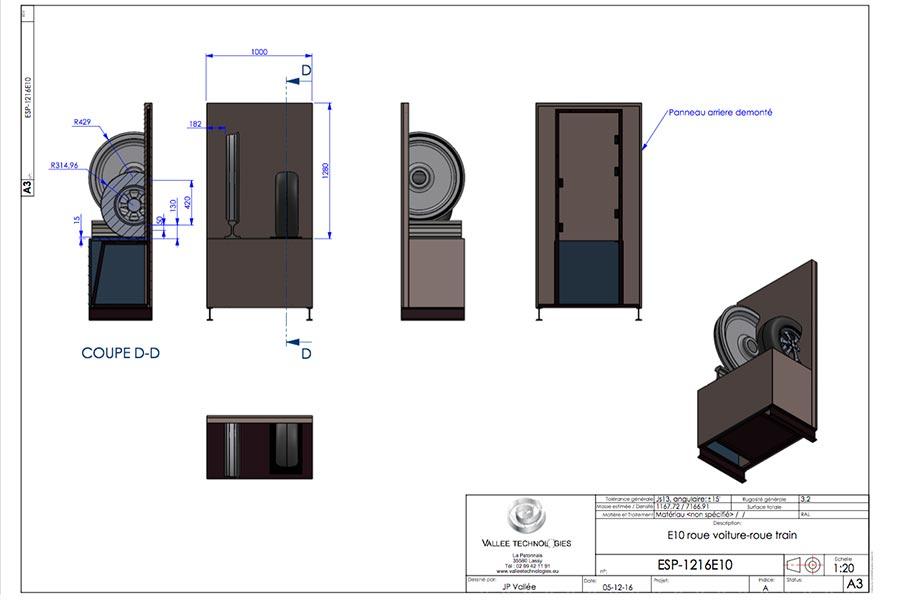 Plans 3D - Roue de train